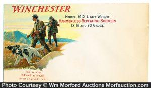 Winchester Model 1912 Envelope Cover