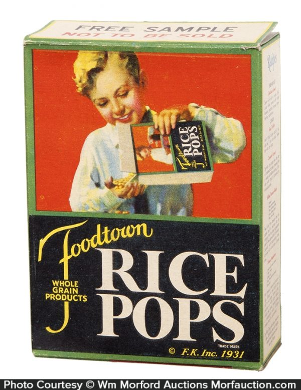 Foodtown Rice Pops Cereal Box
