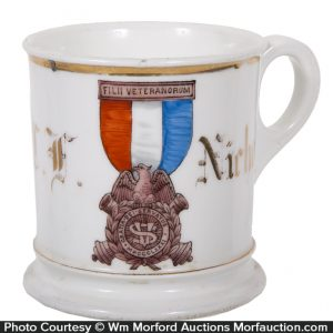 Civil War Medal Shaving Mug