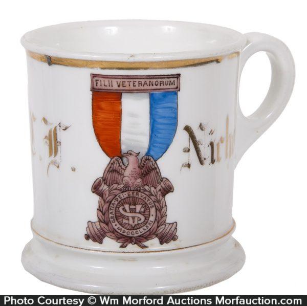Civil War Medal Shaving Mug