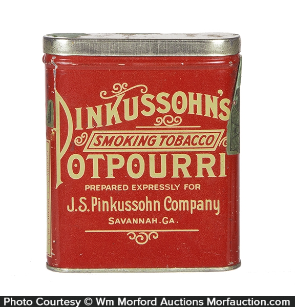 Pinkussohn's Potpourri Tobacco Tin