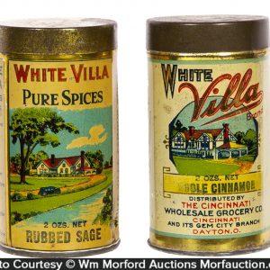 White Villa Spice Tins