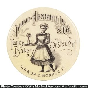 Henrici Bakery and Restaurant Pocket Mirror