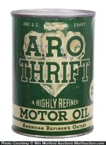 A.R.O. Thrift Motor Oil Can