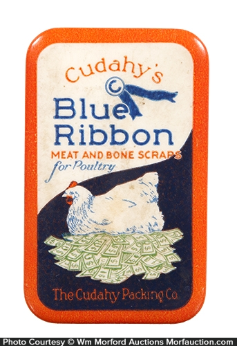 Cudahy's Blue Ribbon Poultry Feeds Knife Stone
