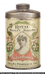Royal Violet Talcum Powder Tin