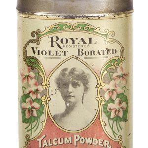 Royal Violet Talcum Powder Tin