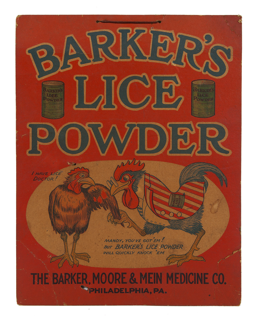 Barker's Lice Powder Veterinary Sign
