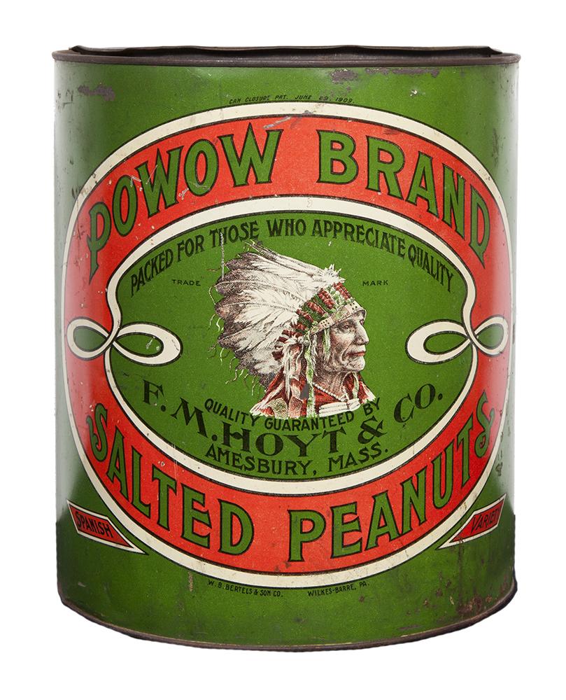 Powow Salted Peanuts Tin