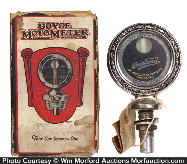 Boyce MotoMeter Overland Autos Hood Ornament