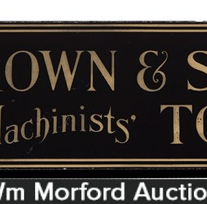 Brown & Sharpe Tools Sign