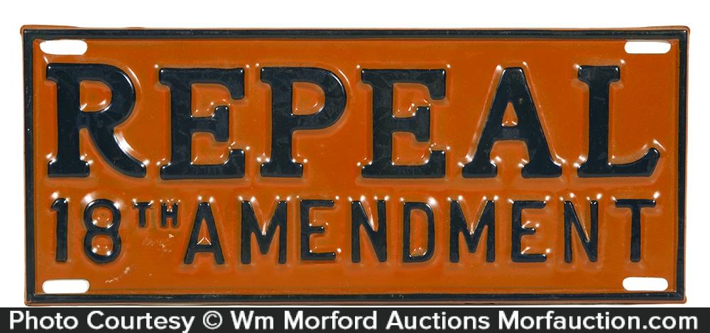Repeal 18th Amendment License Plate Attachment