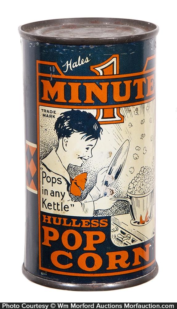 Hale's 1 Minute Popcorn Tin
