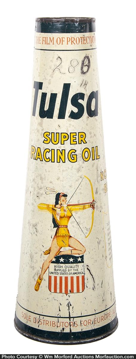 Tulsa Racing Motor Oil Can