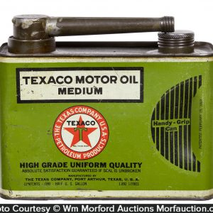 Texaco 1/2 Gallon Motor Oil Can