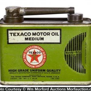 Texaco 1/2 Gallon Motor Oil Can