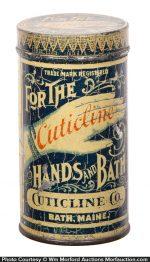 Cuticline Hand Bath Tin