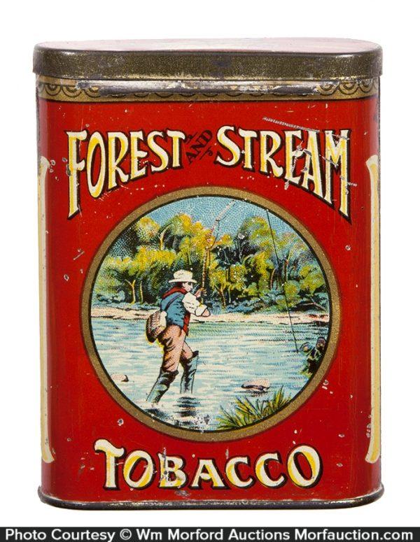Forest & Stream Tobacco Tin (Scarce Creel Lid)