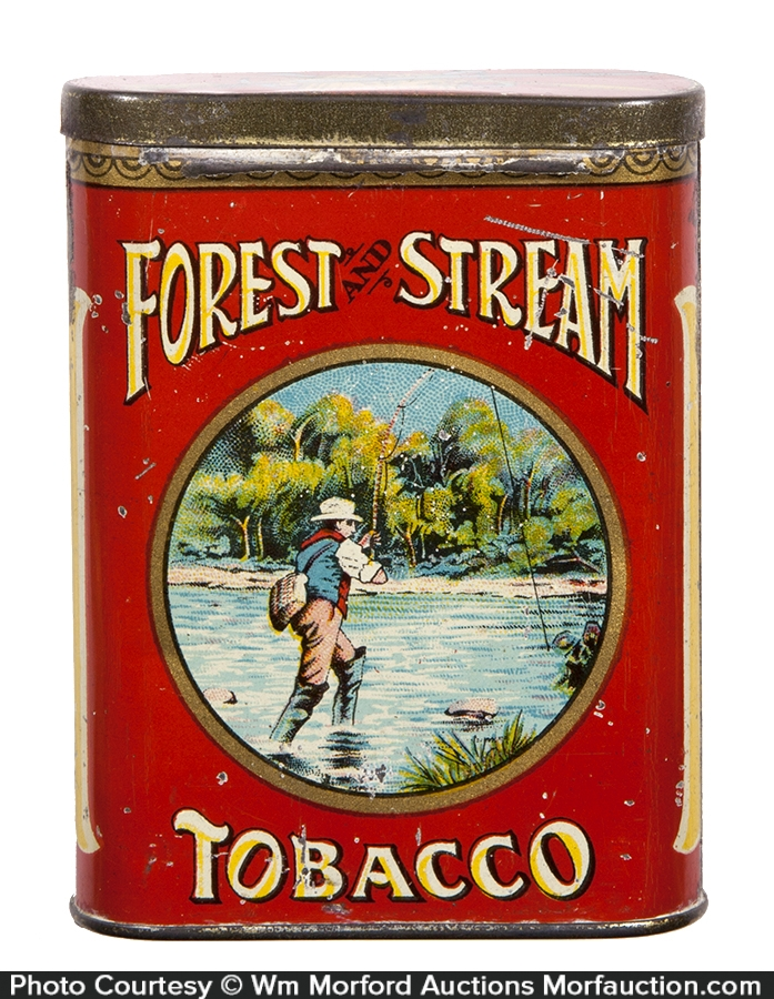 Forest & Stream Tobacco Tin (Scarce Creel Lid)
