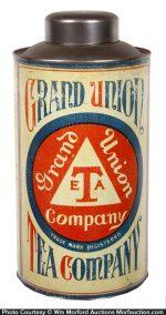 Grand Union Tea Store Tin