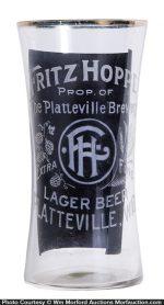 Fritz Hoppe Beer Glass