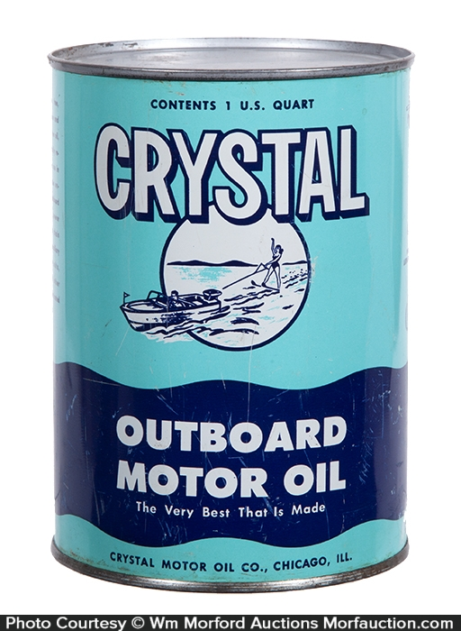 Crystal Outboard Motor Oil Can