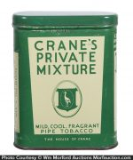 Crane's Private Mixture Tobacco Tin