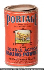 Portage Baking Powder Tin