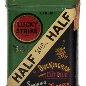 Lucky Strike Half and Half Tobacco Sample Tin