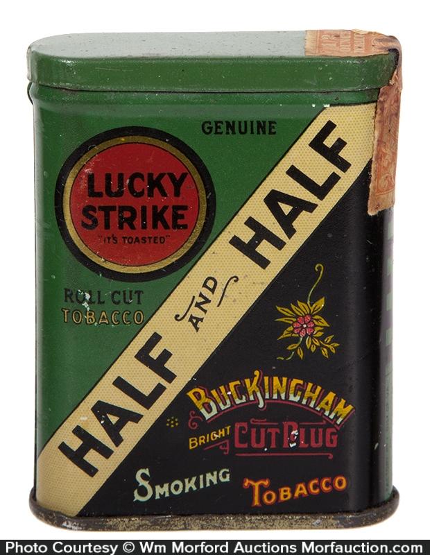 Lucky Strike Half and Half Tobacco Sample Tin