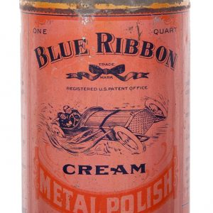 Blue Ribbon Metal Polish Tin