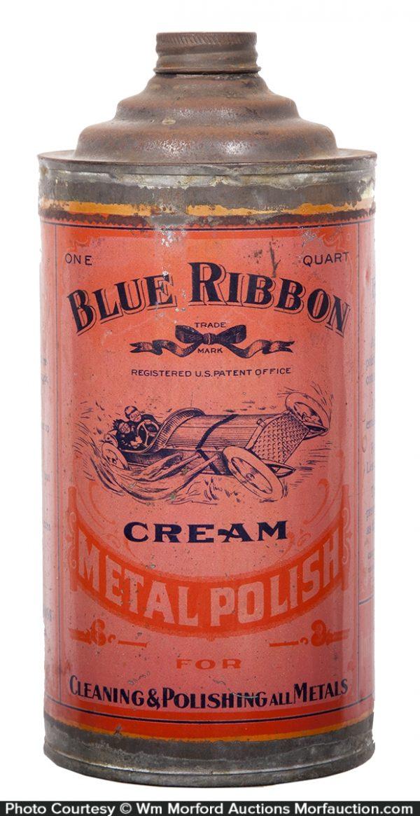 Blue Ribbon Metal Polish Tin