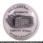 Hanes Mammoth Tobacco Works Paperweight