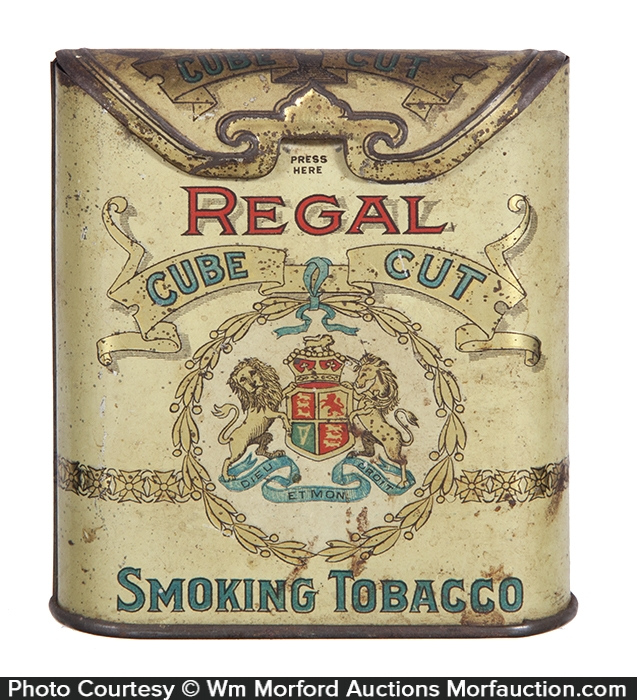 Regal Cube Cut Tobacco Tin