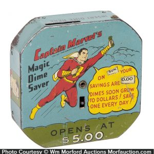 Captain Marvel Dime Bank