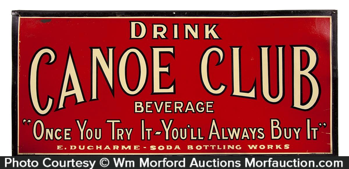 Canoe Club Soda Sign