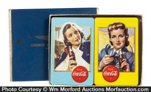 1943 Coca-Cola WWII Aircraft Spotter Playing Cards