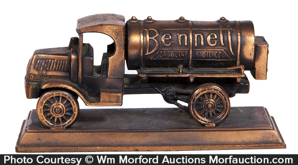 Bennett Gasoline Truck Paperweight