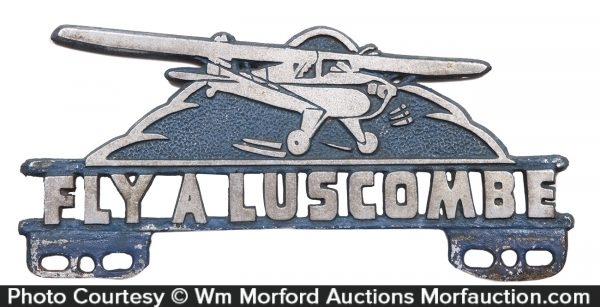 Fly A Luscombe License Plate Topper
