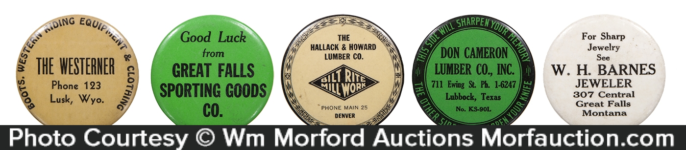 Celluloid Western States Knife Sharpening Stones