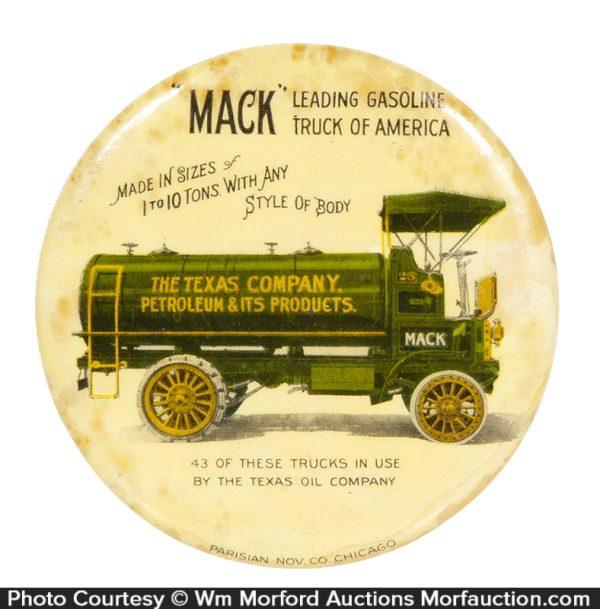 Mack Gas Trucks Paperweight Mirror (Texaco)