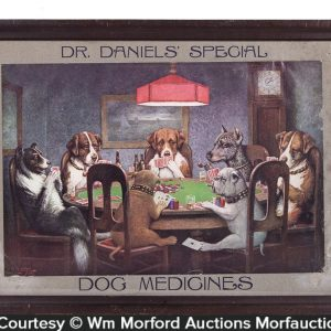 Dr. Daniels Poker Playing Dogs Sign