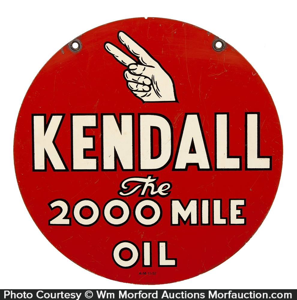 Kendall 2000 Mile Oil Sign