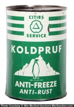 Cities Service Koldpruf Anti-Freeze Can
