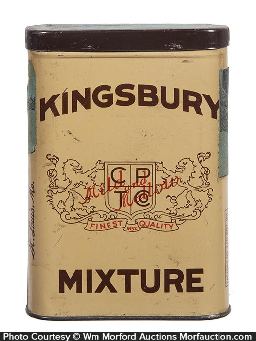 Kingsbury Mixture Pocket Tobacco Tin