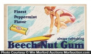 Beech-Nut Gum Surfing Sign