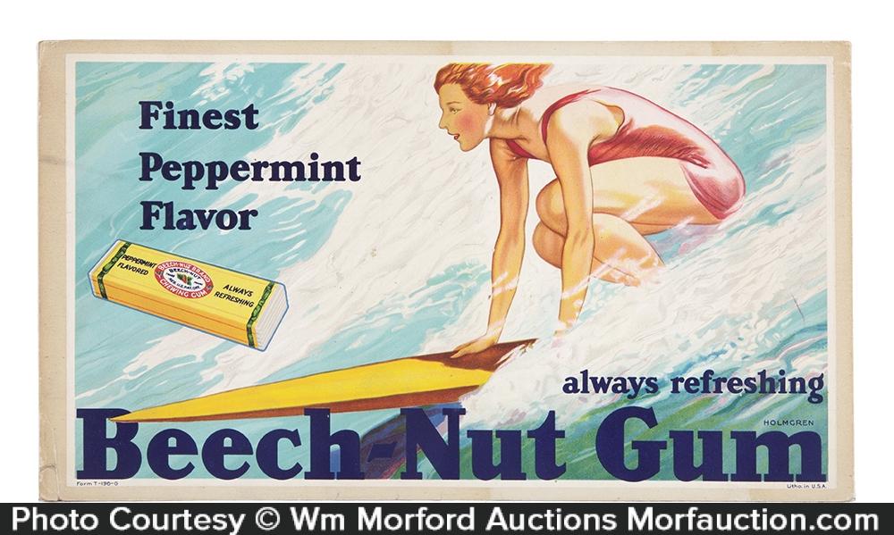 Beech-Nut Gum Surfing Sign