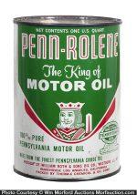 Penn-Rolene Motor Oil Can
