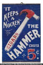 Hammer Cigars Cloth Sign