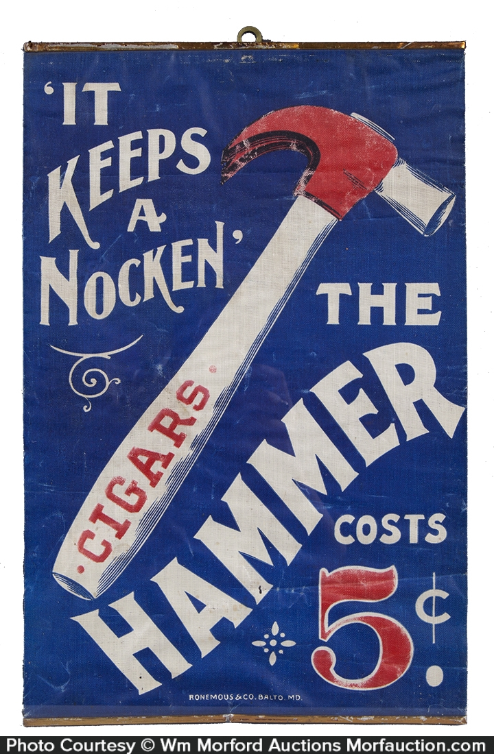 Hammer Cigars Cloth Sign